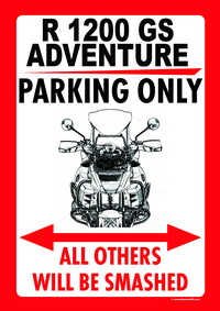 R 1200 GS ADVENTURE PARKING ONLY