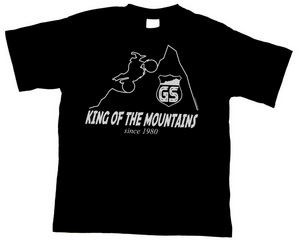 BEEMER GS T-shirt GS - KING OF THE MOUNTAINS - since 1980