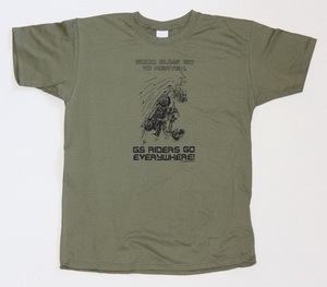 NEW! BEEMER GS olive-green t-shirt GOOD GUYS GO TO HEAVEN
