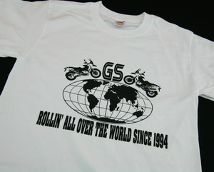 BEEMER GS 20th anniversary -shirt ROLLIN' ALL OVER THE WORLD SINCE 1994