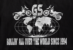 BEEMER GS 2oth anniversary shirt ROLLIN' ALL OVER THE WORLD SINCE 1994